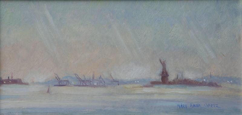 Hazy Day on New York Harbor